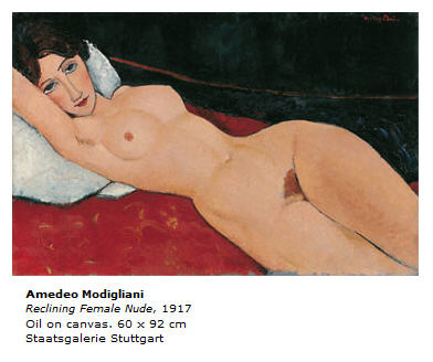 Modigliani Reclining Female Nude 1917
