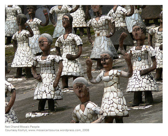 Nek Chand Rock Garden Mosaic People