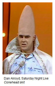 Dan Akroyd  - you gotta love a Conehead from France