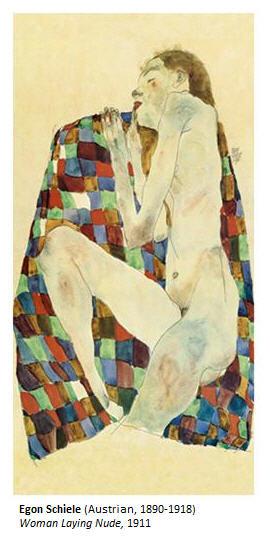 Egon Schiele Woman Laying Nude 1911