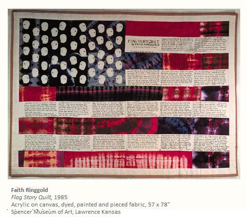 Faith Ringgold Flag Story Quilt 1985