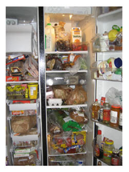 Full fridge empties fast