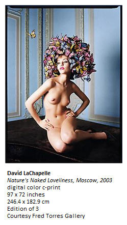 Lachapelle at Paul Kasmin Gallery: Nature's Naked Loveliness, Moscow 2003