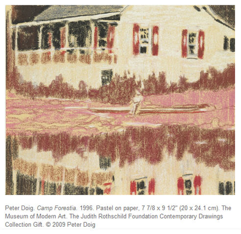Peter Doig, Museum of Modern Art Contemporary Drawing Exhibition