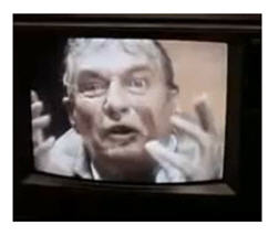 Peter Finch MAD AS HELL scene from the movie Network