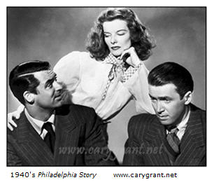 1940s Philadelphia Story Cary Grant Katherine Hepburn James Stewart