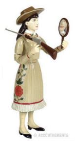 action figure Annie Oakley from Accoutrements dot com