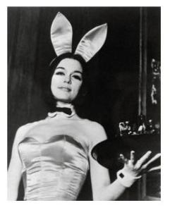 Gloria Steinham as Bunny 1963