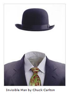 Invisible Man in Suit and Tie by Chuck Carlton courtesy Art dot com