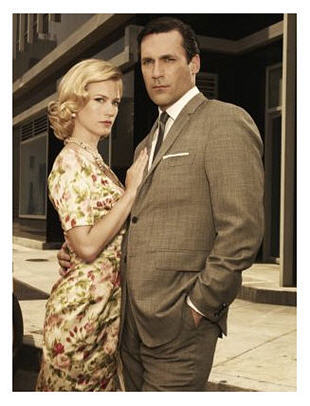 Jon Hamm and January Jones of Mad Men