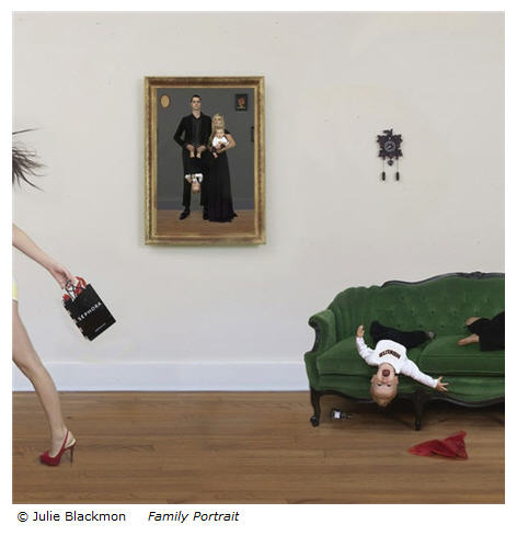 Julie Blackmon Family Portrait from Domestic Vacations series