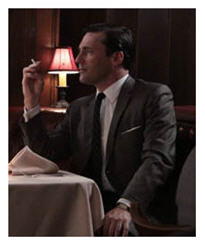 Mad Men ambiance continues to be dark and swanky