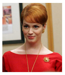 Mad Men Joan in red