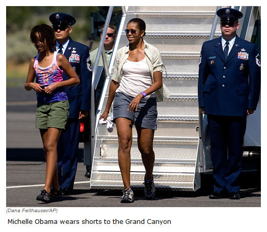 Michelle Obama in shorts