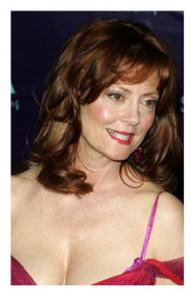 Susan Sarandon red hair