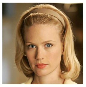 Betty Draper played by January Jones is anything but everywoman despite the role she's expected to fill.