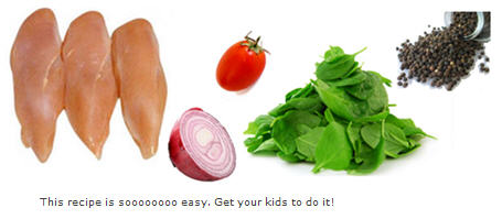 Easy ingredients, easy recipe: GET YOUR KIDS TO COOK IT!