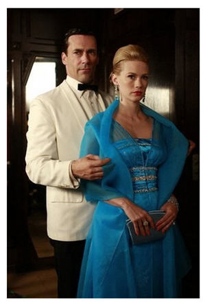 In this Mad Men image released by AMC TV, beauty can't hide a core of sadness.