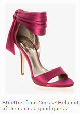 Stilettos are an indication of expecting a gentle and courteous helping hand.