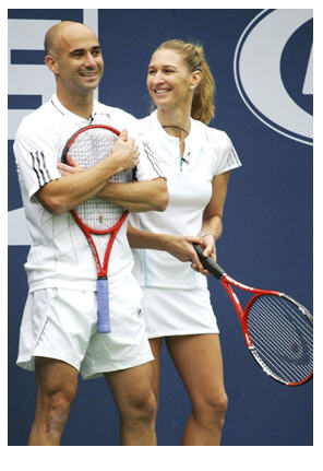 tennis Agassi and Graf from tennistimes dot com