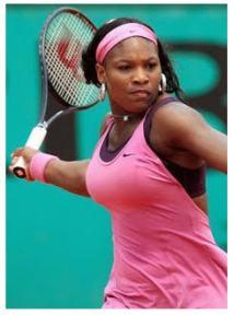 tennis Serena at work