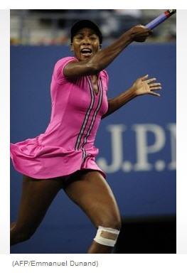 Venus Williams first round US Open 2009