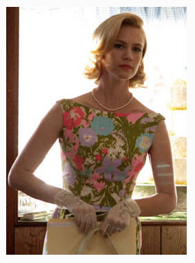 January Jones as Betty Draper flirts with her own pact with the devil, in many contexts.