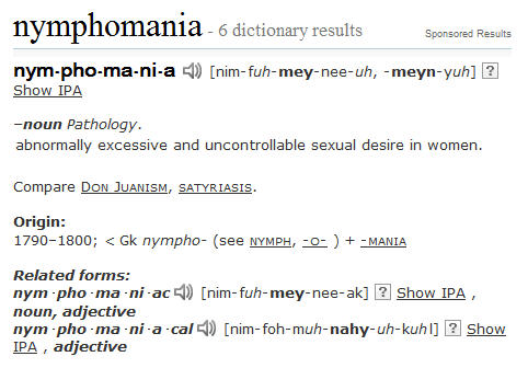 Nymphomania definition