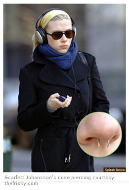 Scarlett Johansson is just one  of many celebs who are into piercings (image courtesy TheFrisky.com).