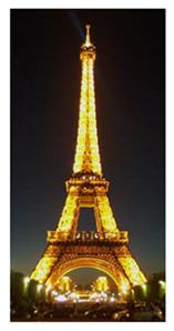 The Eiffel Tower by night cuts a fine figure of its own.