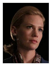 January Jones as Betty Draper shows remarkable restraint in her performance as she confronts her husband's secrets.